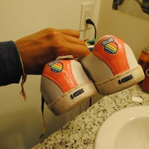 K-Swiss Shoes - 118. upcycled rainbow sneakers